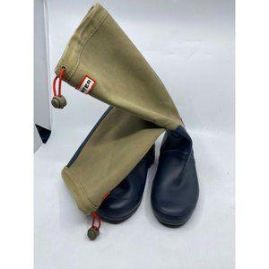 Hunter Women's Tan Blue Boots Size 8
